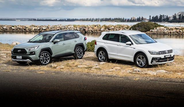 2019 Toyota RAV4 v Volkswagen Tiguan comparison