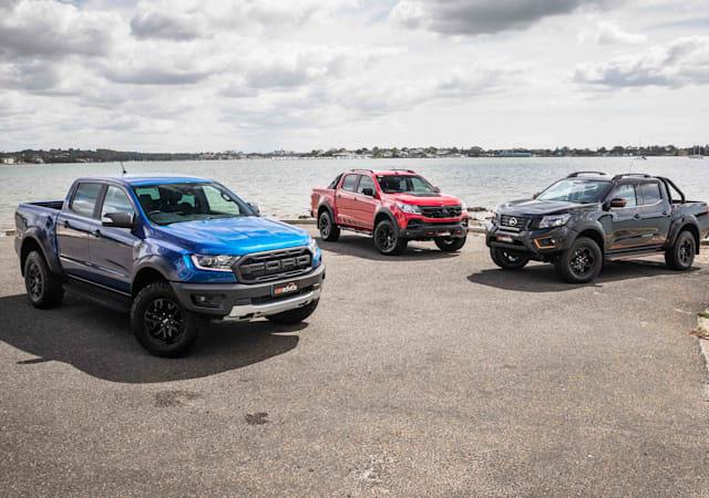 Road test comparison: 2020 Ford Ranger Raptor v HSV Colorado SportsCat v Nissan Navara N-Trek Warrior