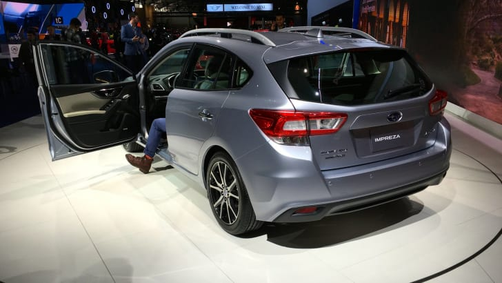 2017 Subaru Impreza hatch and sedan NY auto show 13