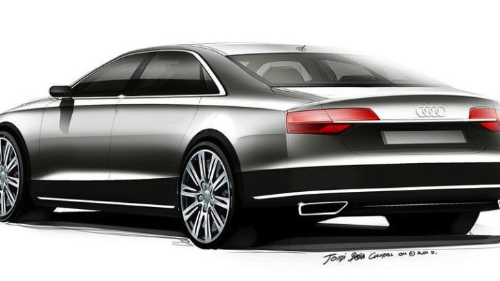 Audi A8 Facelift Teased - 2