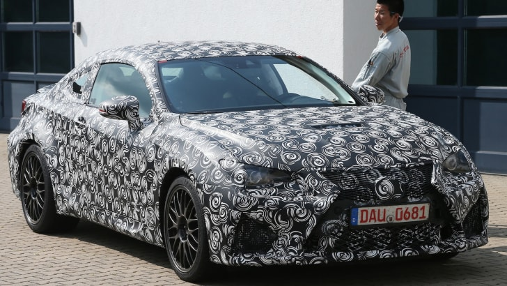 Lexus ISF coupe spy front 3q