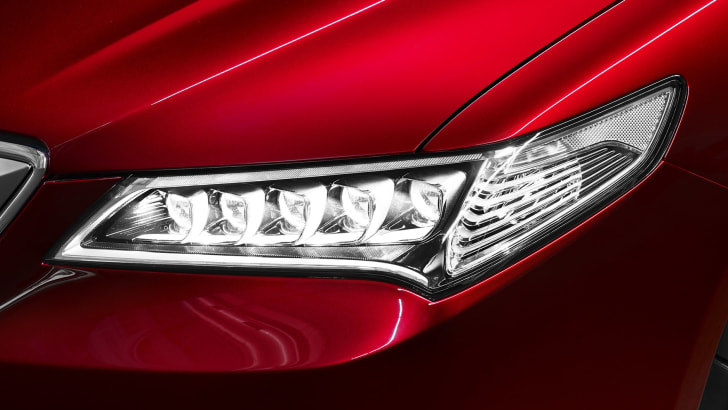 Acura TLX Prototype LED headlights