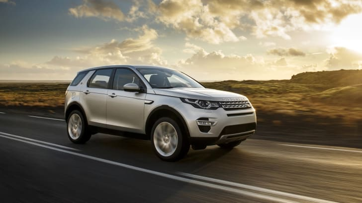 Land Rover Discovery Sport cruising front side