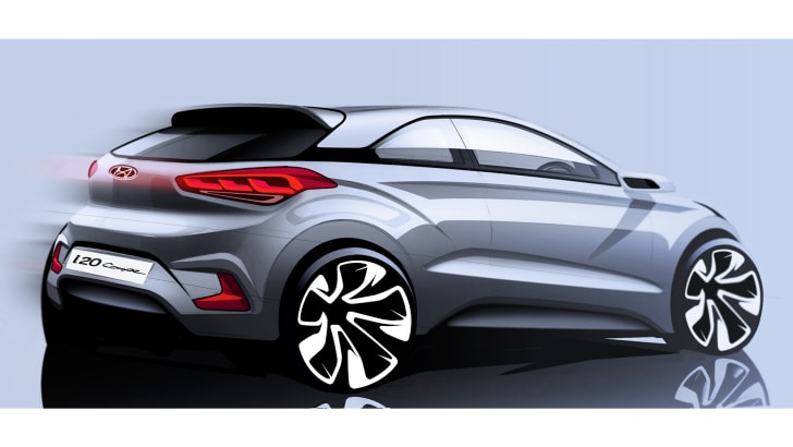 Hyundai-i20 Coupe sketch