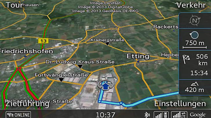 Google Earth mit Verkehrsinformationen Online via LTE