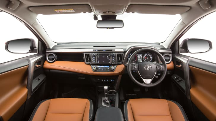 2015 Toyota RAV4 Cruiser (tan interior shown)