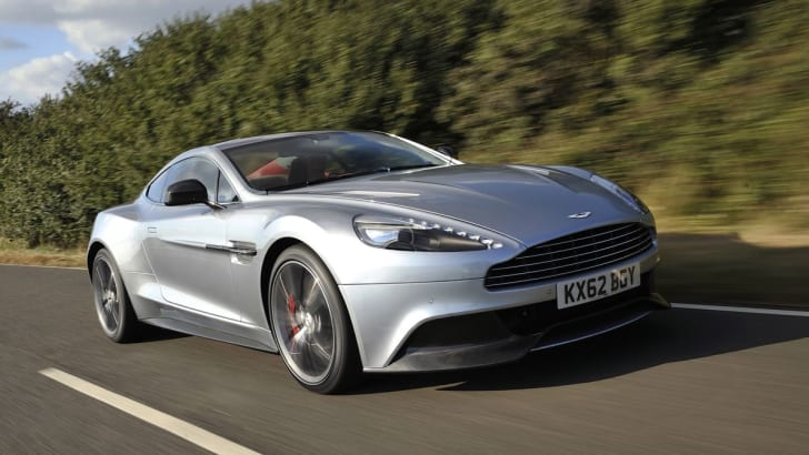 Aston Martin Vanquish on road