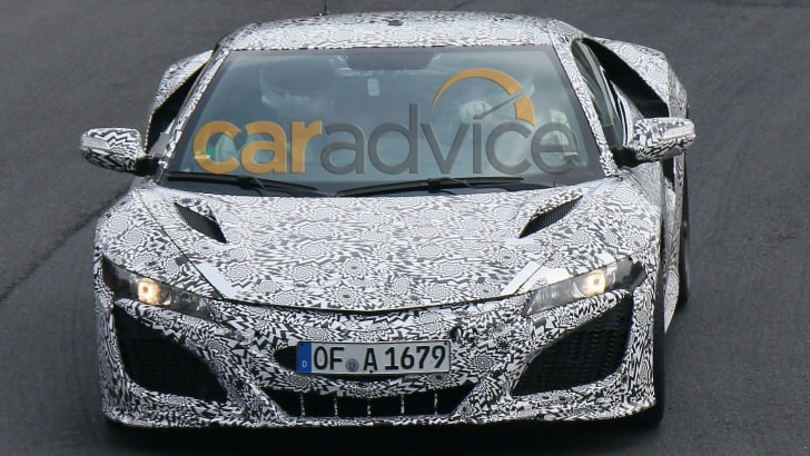 Honda NSX spied at the Nurburgring - front on