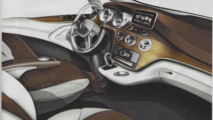 Mercedes-Benz Viano leaked sketches - 2