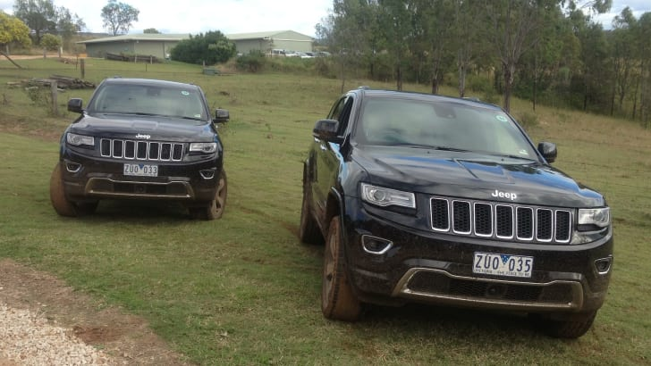 Jeep Grand Cherokee pose