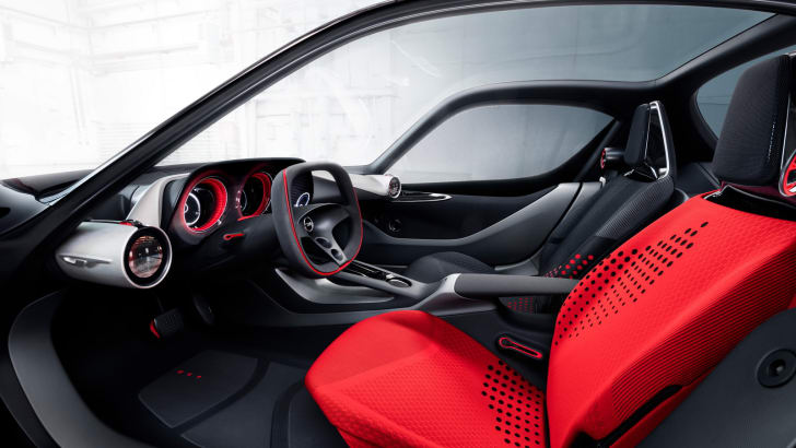 World premiere in Geneva: The Opel GT Concept shows a visionary interior.