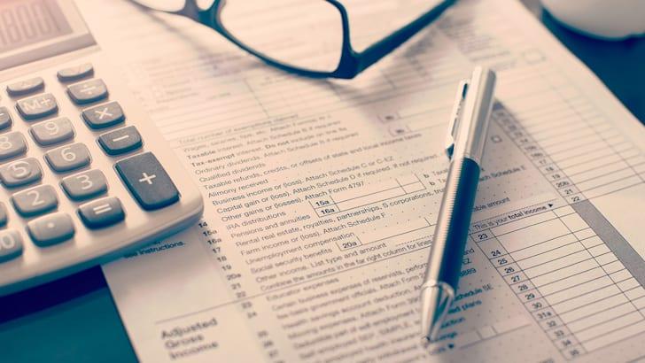 Individual income tax return form,
