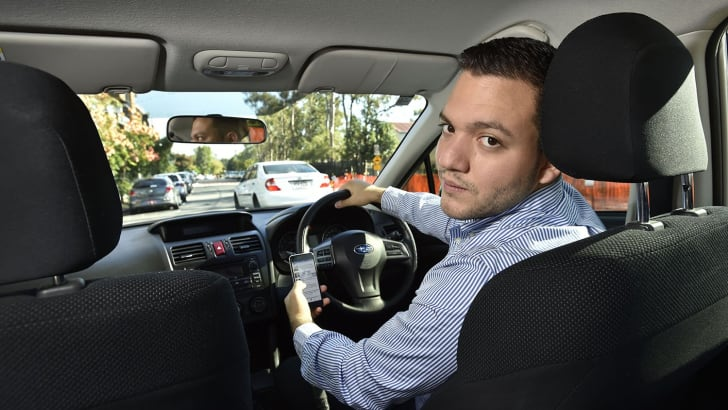Oscar Oviedo-Trespalacios, QUT Centre for Accident Research & Road Safety, is studying how people juggle driving and using their mobile phones, 26/5/16.