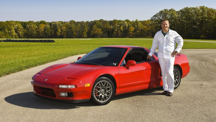 Ted Klaus with Original Honda NSX