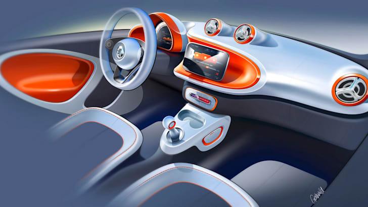 Smart ForTwo interior rendering