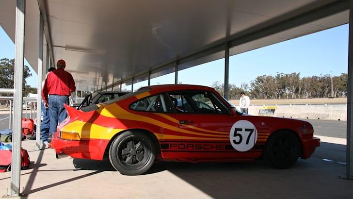 Porsche in pits