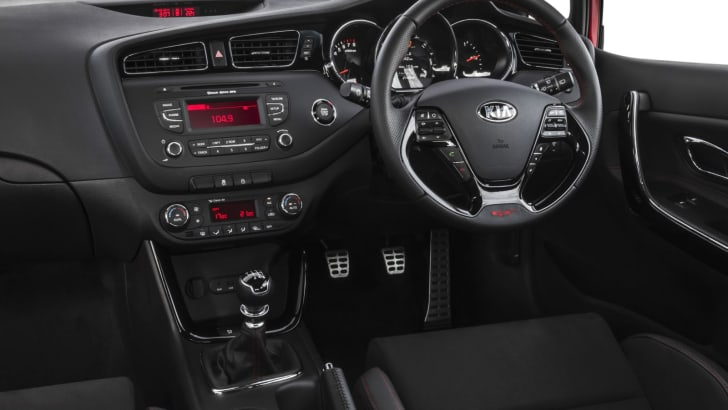 Kia pro_cee'd GT-Tech interior including smart key with push button start,