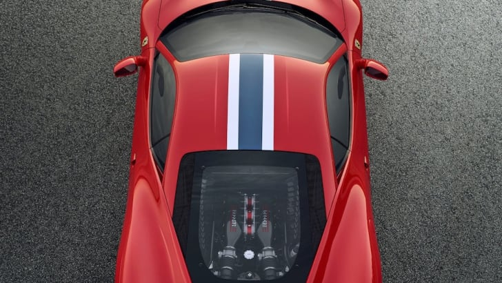 Ferrari 458 Speciale birdseye