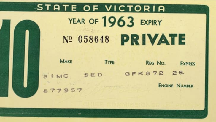 car-registration-vic-1963