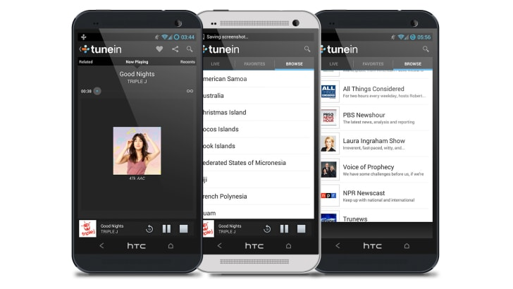 TuneIn Radio on HTC One