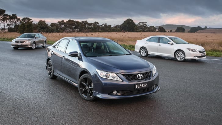 2015 Toyota Aurion range: Sportivo (front), Presara (right) and AT-X
