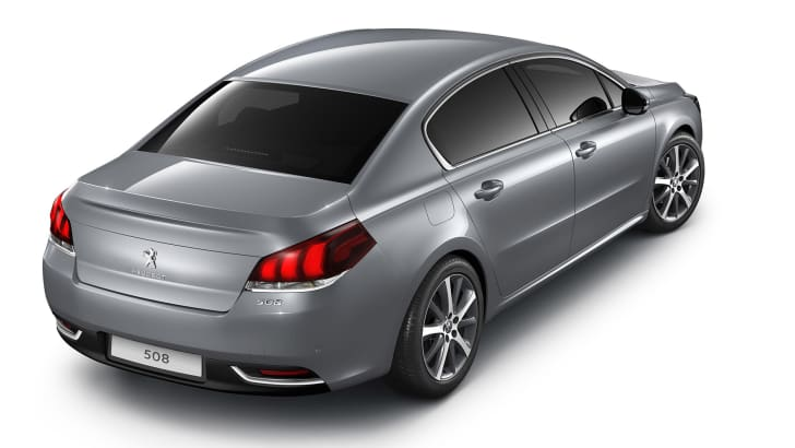 Peugeot 508 facelift sedan rear