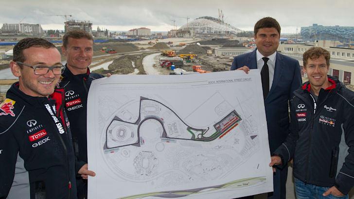 Formula One Triple World Champion Sebastian Vettel becomes first driver to sample new Grand Prix venue in Sochi, Russia