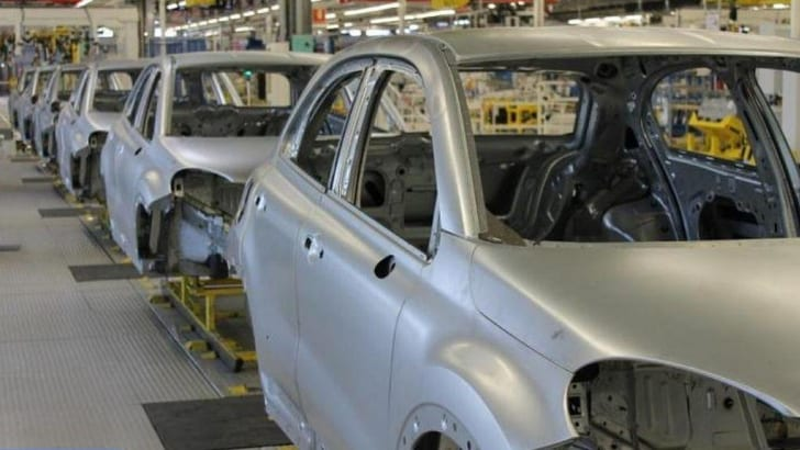 Fiat 500X body in Melfi plant