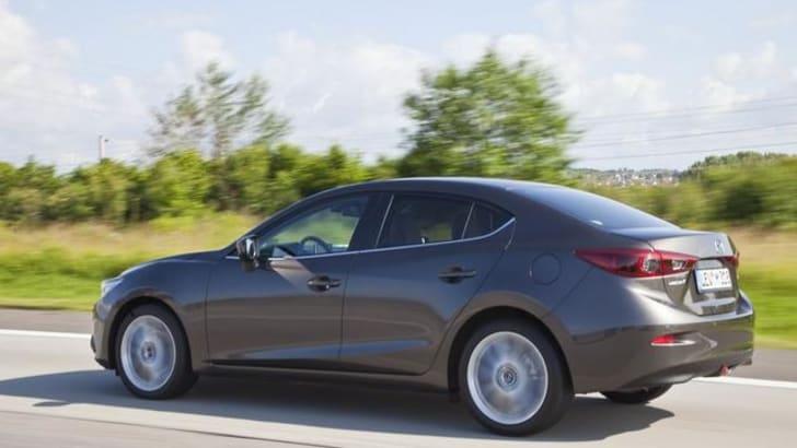 Mazda 3 sedan leak driving profile