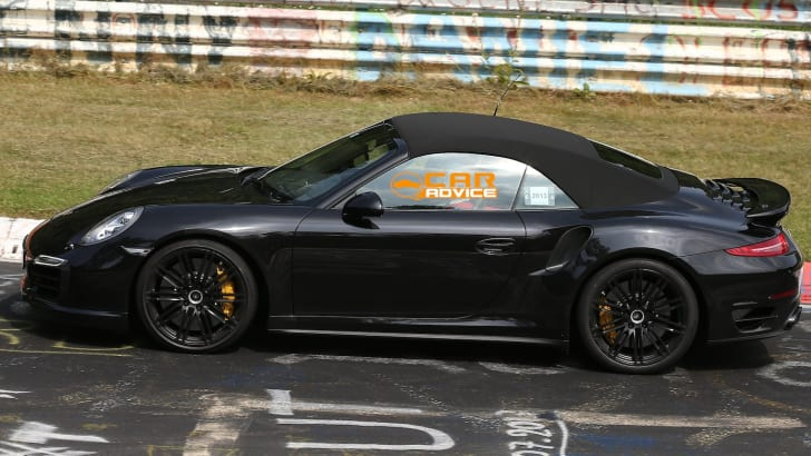Porsche 911 Turbo Convertible Spied - 4
