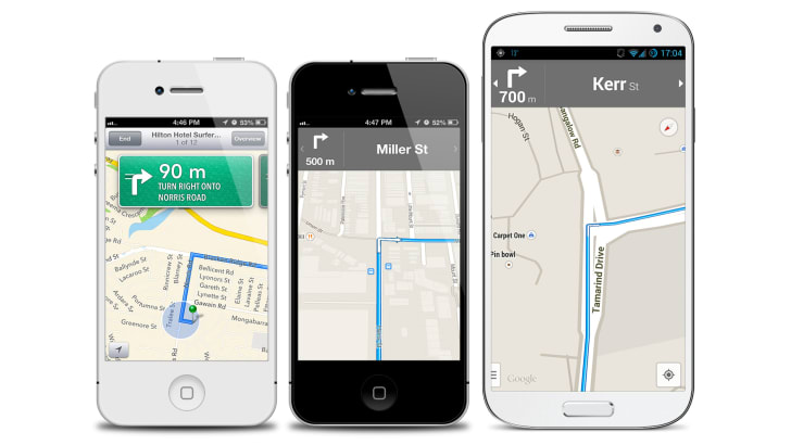 Google Maps and Apple Maps apps