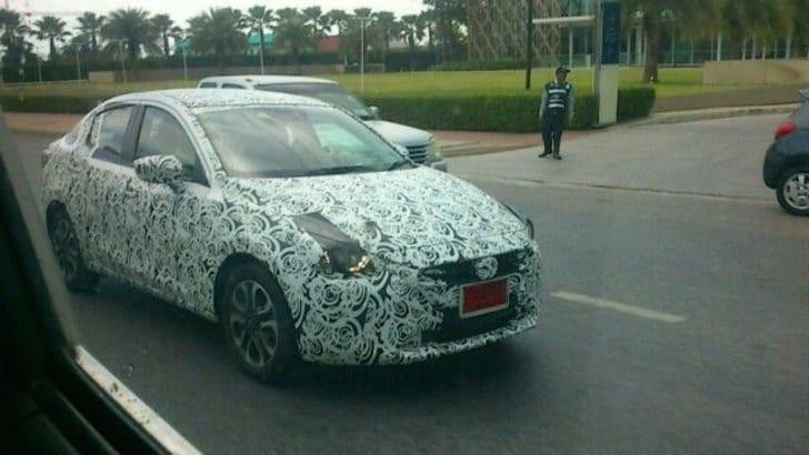 2015 Mazda 2 sedan spied_1
