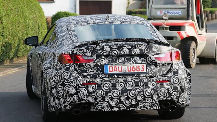 Lexus ISF coupe spy rear