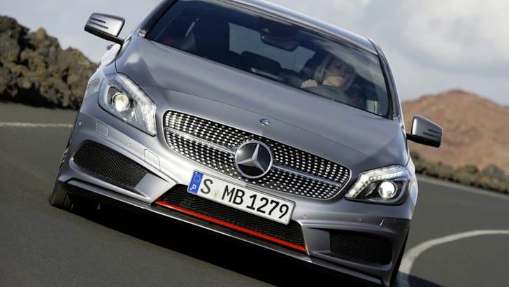 Mercedes A-Class sporty cornering