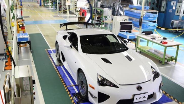 Lexus LFA off production line