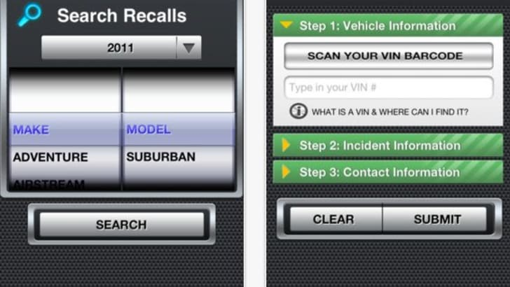 NHTSA SaferCar App - 2