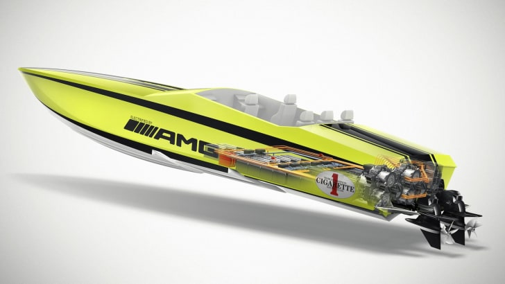 Cigarette AMG Electric Drive Concept Powerboat - 9