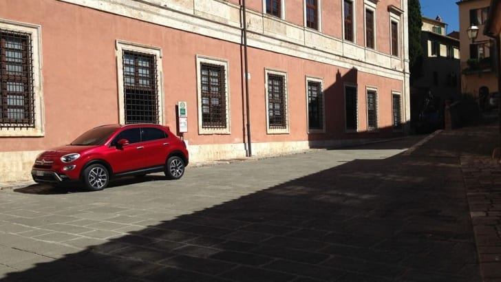 Fiat 500X undisguised - wide angle