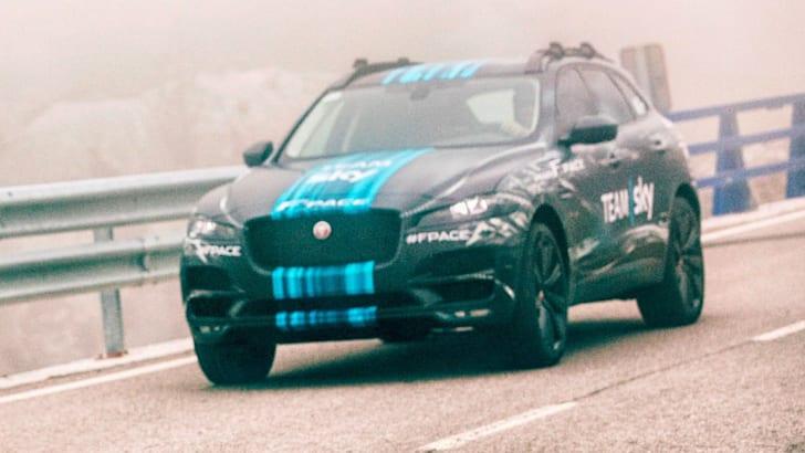 Jaguar F-Pace Prototype To Lead Team Sky At The Tour De France