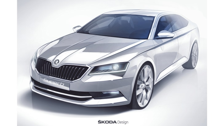 skoda-superb-sketch-front