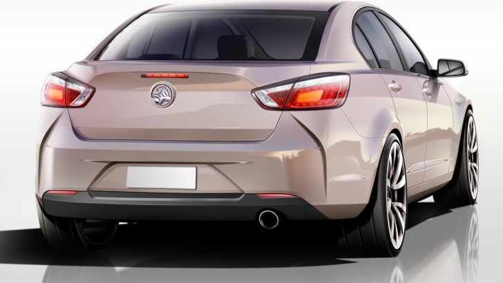 Holden VF Commodore design concept rear