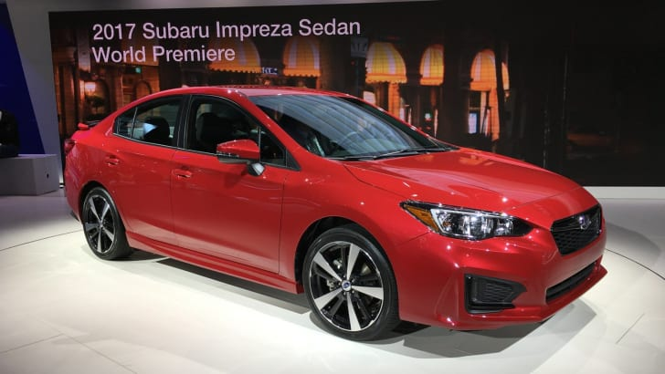 2017 Subaru Impreza hatch and sedan NY auto show 02