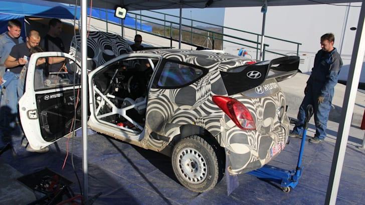 Hyundai WRC i20 test day1