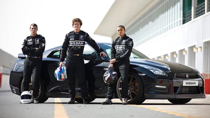Nissan PlayStation GT Academy Graduates - Lucas Ordonez, Jordan Tresson and Jann Mardenborough