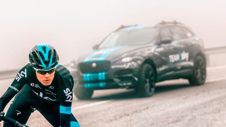Jaguar F-Pace Prototype To Lead Team Sky At The Tour De France