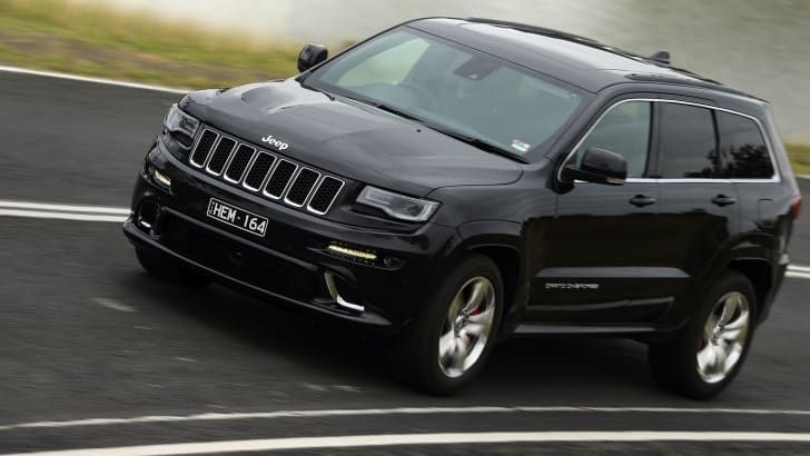 Jeep Grand Cherokee SRT driving