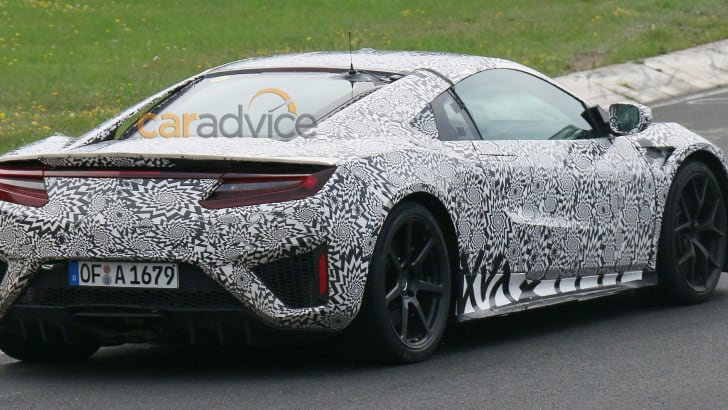 Honda NSX spied at the Nurburgring - rear