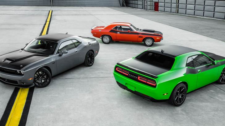 2017 Dodge Challenger T/A 392 (left), 2017 Dodge Challenger T/A