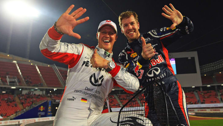 2012 ROC - Michael Schumacher and Sebastian Vettel