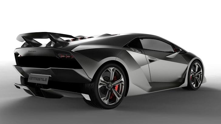 Lamborghini Sesto Elemento - Rear Side